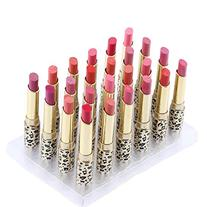 Anself 12 Colors 24pcs Leopard Print Lipsticks Moisturizing