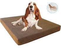 Dogbed4less Waterproof Liner Orthopedic Memory Foam Dog Bed