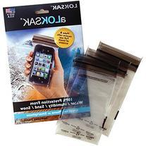 """LokSak Waterproof Pouch 3 Pack, 4.4"""" x 7.25"""