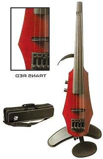 NS Design WAV-4 Electric 4-String Transparent Red Violin