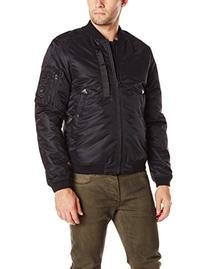 Spiewak Men's Waxed MA-1 Bomber Flight Jacket, Caviar, Small