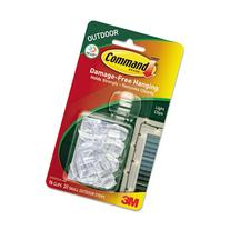 Command Outdoor Light Clips 2' Plastic Clear