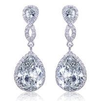 EVER FAITH Zircon Austrian Crystal Wedding 8-Shape Pierced
