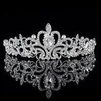Nipoo Wedding Pageant Bridal Tiara Crown, Rhinestones