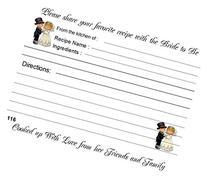 Wedding Recipe Cards Precious Moments Design 40 Cards