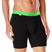 MyPakage Men's Weekday Boxer Brief, Black Green, Large