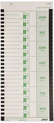 Universal Time Card, Side Print, 3 1/2 x 9, Bi-Weekly/Weekly
