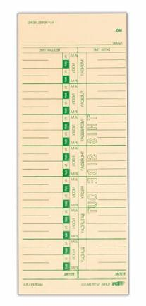 TOPS Time Cards, Weekly, 1-Sided, Replaces M-33, 10-800292,