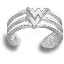 West Virginia University WV Toe Ring - Sterling Silver