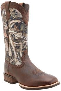 Ariat Western Boots Mens Quickdraw Camo Cowboy Brown