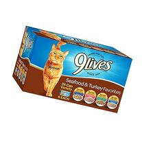 9Lives Wet Cat Food Variety Pack, 5.5-Ounce Cans