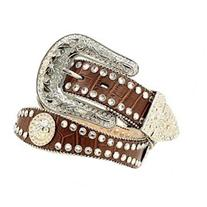 Blazin Roxx Wetern Belt Women Crytal Gator Brown N3512002
