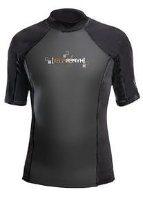 Hyperflex Wetsuits Men's Polyolefin 1.5mm 50/50 S/S Shirt,