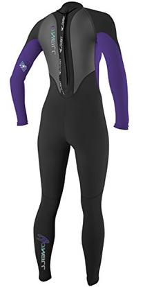 O'Neill Wetsuits Women's Reactor 3/2mm Full Suit, Black