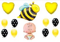 What Will It BEE Baby Shower Gender Reveal Party Balloons