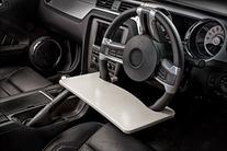 Wheel Desk and Tablet Mount Combo, 15 x 1 x 8 1/2, Wood/