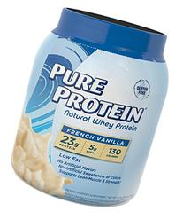 Pure Protein Natural Whey Powder - French Vanilla, 1.6