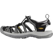 KEEN Whisper Sandal - Women's Black/Neutral Gray, 6.5