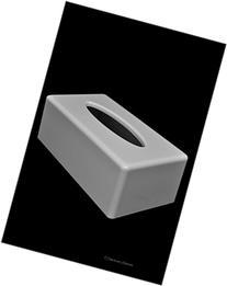 White Acrylic Rectangular Kleenex Tissue Dispenser Box Cover