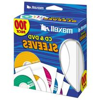 White CD/DVD Sleeves - 100 Pack