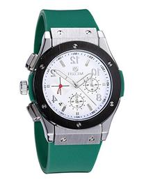 Fanmis Men's White Dial Chronograph Sport Casual Green