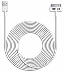 iXCC 10ft EXTRA LONG 30 Pin to USB SYNC and Charge Cable