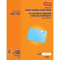 "Staples White Inkjet/Laser Return Address Labels, 1/2"" x 1-3"