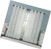 Brightmaison White Lace Curtain Panel 57 X 98 Inches,