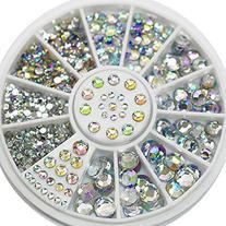 5 Sizes White Multicolor Nail Art Decoration Acrylic Glitter