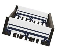 White and Navy Modern Hotel Teething Protector Cover Wrap