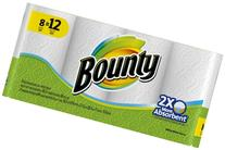 Bounty White Paper Towels Giant Rolls