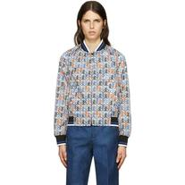 Emilio Pucci White Printer Bomber Jacket
