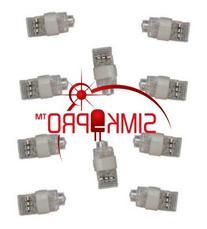 10 Pack WHITE ONLY Super Bright Finger Flashlights - LED