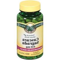 Spring Valley Whole Herb Cascara Sagrada Capsules, 450 mg,