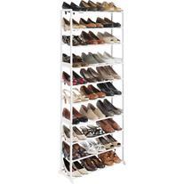 Whitmor 6780-3048-WHT Shoe Rack - Floor - 60 x Shoes - Resin, Metal - White