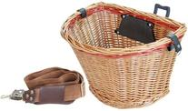 Sunlite Wicker QR Basket, Honey/Red