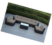Ohana 7-Piece Outdoor Wicker Patio Furniture Sectional