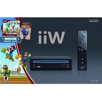 Wii Black Console with New Super Mario Brothers Wii and