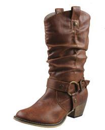Refresh Wild-02 Riding Boots, Tan Pu , 8.5
