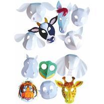 Roylco Wild Animal Mask, Pack of 30