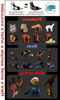 Wildlife/Animals Clipart-Vinyl Cutter Plotter Clip Art