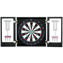 Hathaway Winchester Dartboard and Cabinet Set, Black