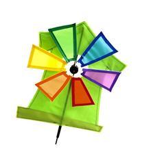 "Supreme Pinwheel - 31""Height 11""Width Green WindMill"