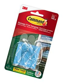Command Outdoor Window Hooks Value Pack, Medium, Clear, 5-