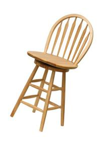 Winsome Wood 24-Inch Windsor Swivel Seat Bar Stool, Natural