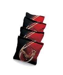 Wine Glass #1 Standard Custom Corn Hole Bags Cornhole Bags