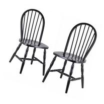 Winsome Wood Windsor Curved-Leg Chair Set of 2
