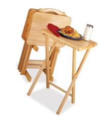 Winsome Wood 5-Piece TV Table Set, Natural  Part No. 42520