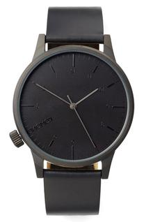 Komono Winston Regal Leather Strap Watch, 42Mm