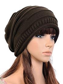 Women's Winter Beanie Knit Crochet Ski Hat Oversized Cap Hat